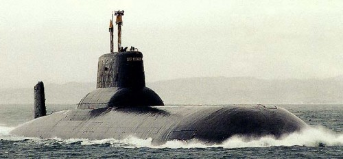 typhoon1 500x232 Photos of Russian Typhoon class nuclear submarine construction process