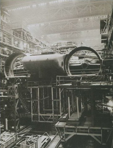 The construction of the Typhoon-class large ducted propeller-type propulsion