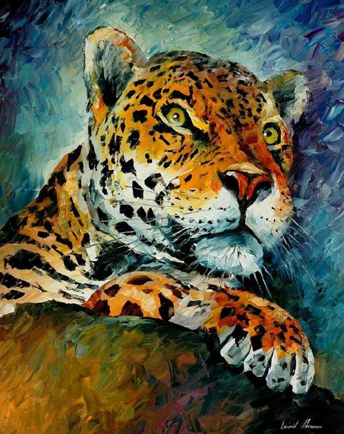 LEOPARD - Original Oil Painting on Canvas