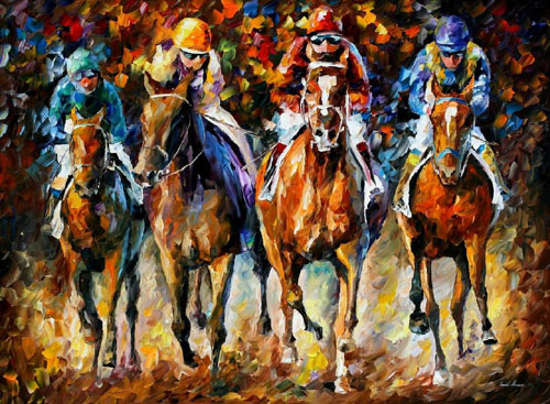 FOLLOW THE LEADER - Original Oil Painting on Canvas