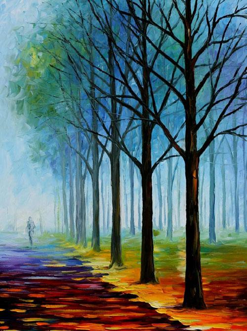 BLUE FOG - Original Oil Painting on Canvas