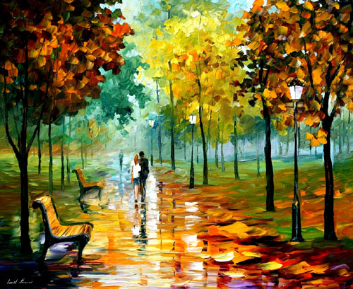 AUTUMN LEAFS - Oil Painting on Canvas