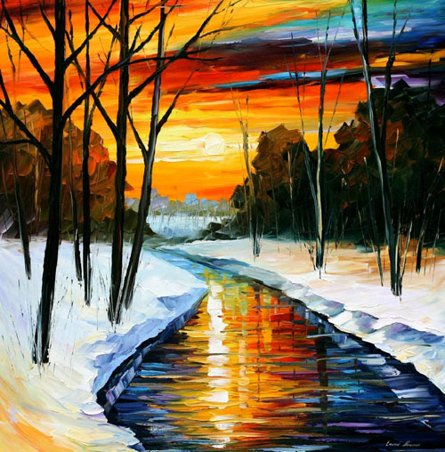 WINTER - Original Oil Painting on Canvas