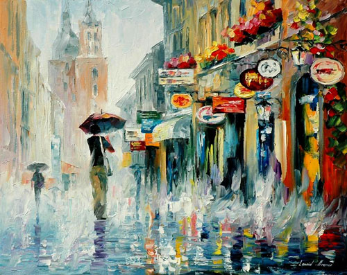 DOWNPOUR - Original Oil Painting