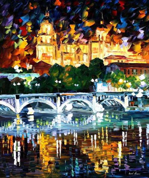 SPAIN SALAMANCA - Original Oil Painting