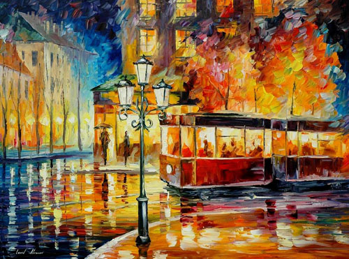 NIGHT TROLLY - Original Oil Painting
