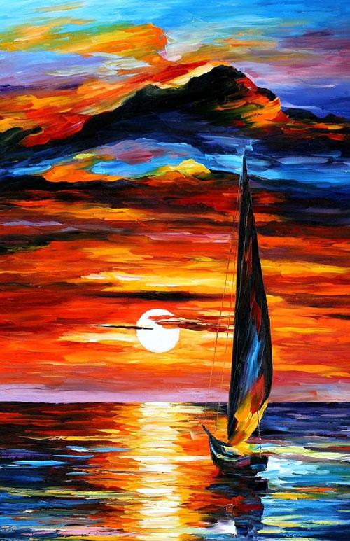 TOWARDS THE SUN - Original Oil Painting