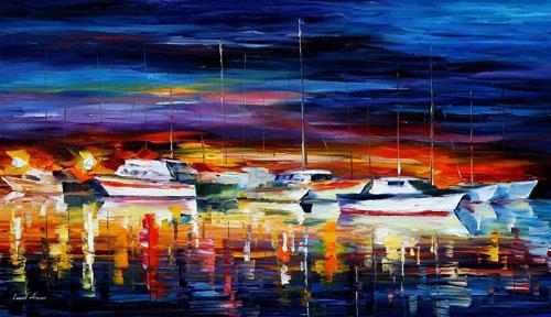 YACHT CLUB - Original Oil Painting