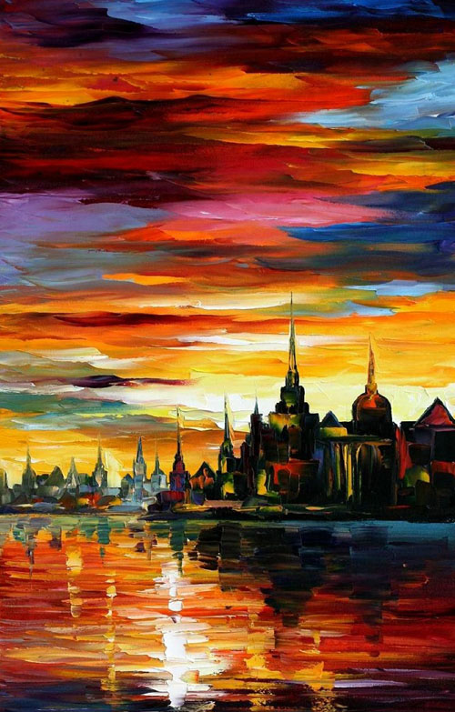 afremov34 Amazing Oil Paintings by Leonid Afremov