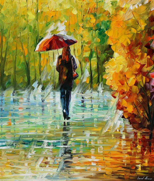THE BEAUTY OF THE RAIN - Original Oil Painting
