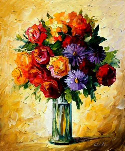 FLOWERS - Original Oil Painting