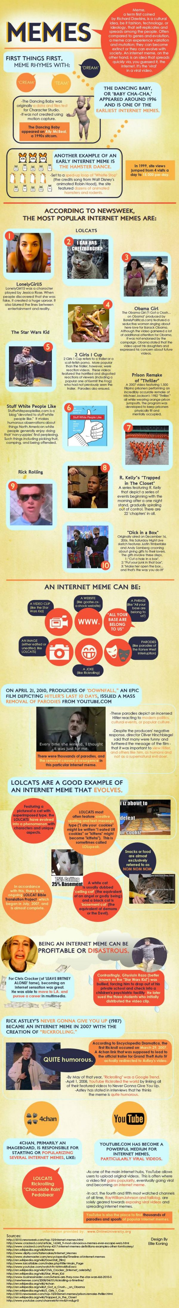 A Guide to Internet Memes (Infographic)