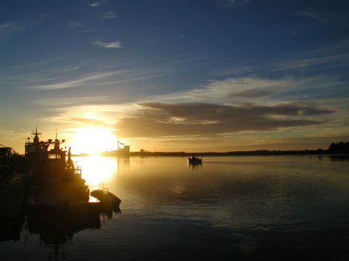 Sunset Over Humboldt Bay