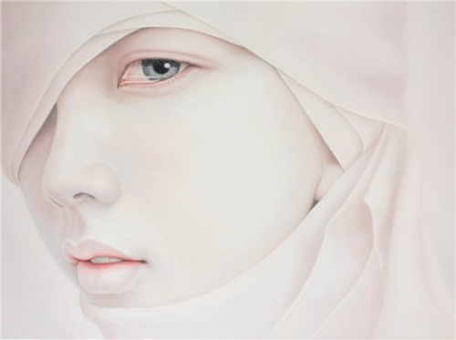 Kwon Kyung Yup - Tearful 100X72cm oil in canvas 2007