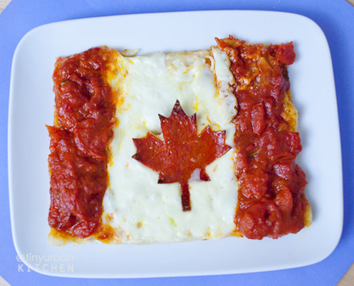 canada Mini pizzas turned into flags