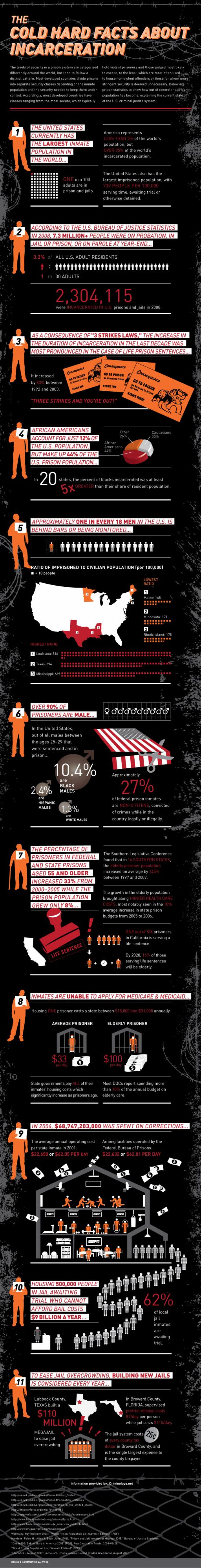 The Cold Hard Facts About Incarceration (Infographic)