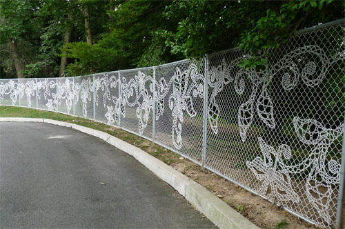 How simple things can soften up boring fences