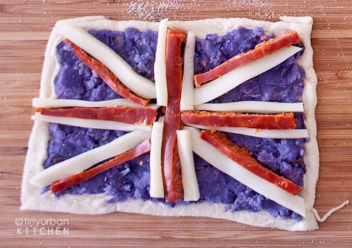 uk pizza Mini pizzas turned into flags