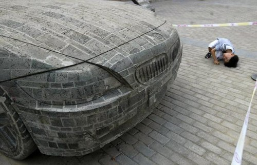 BMW made out of bricks