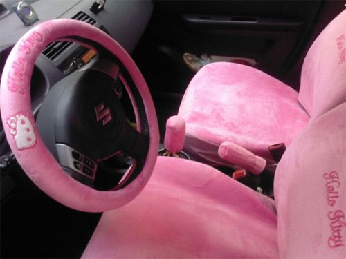 hello kitty car Pimp My Car Interior