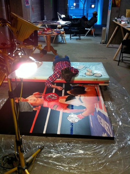 making of Shiny and Expensive Images of Boxers