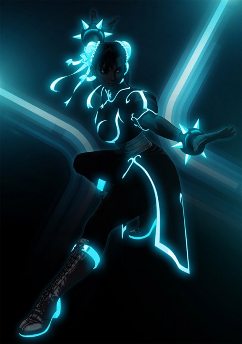Street Fighter Goes Tron