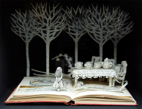 creative art from books Impressive Book Sculptures and Cut out Illustrations