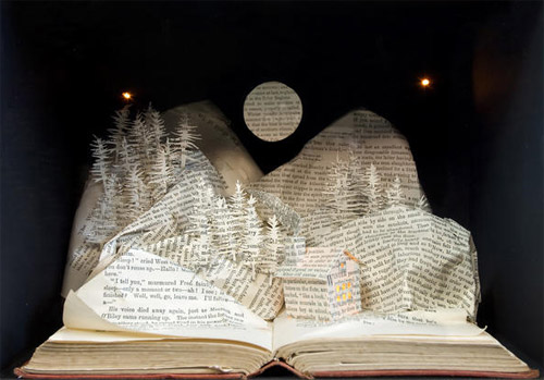landscape book art Impressive Book Sculptures and Cut out Illustrations