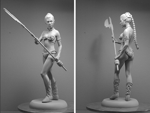 princes leia full figure sculpture Delicate Sculptures Made From Special Material