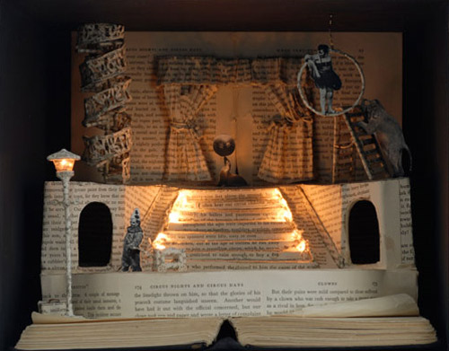theare book art Impressive Book Sculptures and Cut out Illustrations
