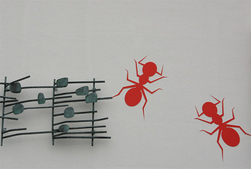 ants on wall Talented Painter Makes Incredible Art