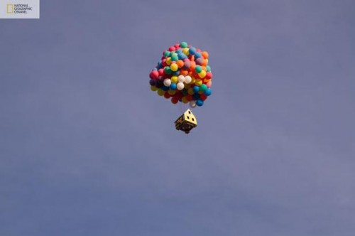floating house08 500x332 Disney/Pixar's 'Up' created in real life