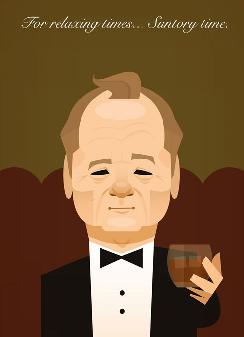 bill murray illustration Chows Incredible But Simple Illustrations