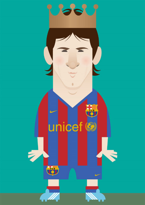 messi barcelona illustration Chows Incredible But Simple Illustrations