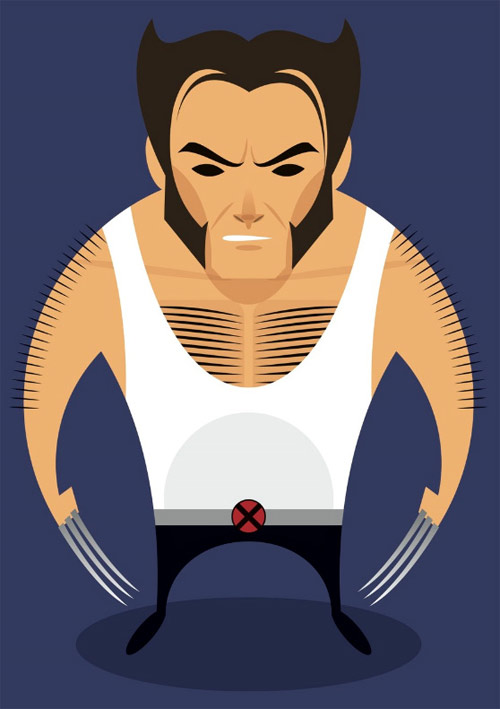 x man illustration Chows Incredible But Simple Illustrations