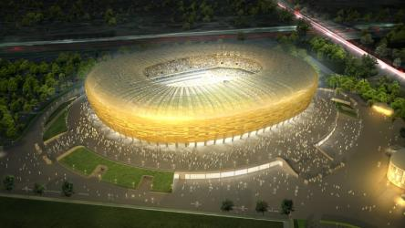 Construction of the stadium in 60 seconds
