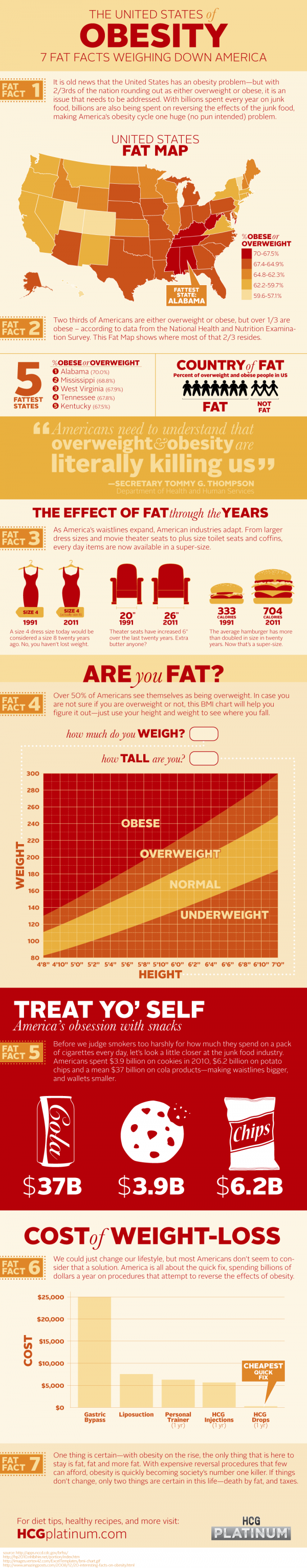 The United States of Obesity [Infographic]