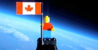 Lego Astronaut in Space
