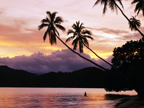 Sunset on Matangi Island, Fiji