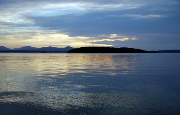 Sunset - Blackberry Point, Valdes Island, British Columbia