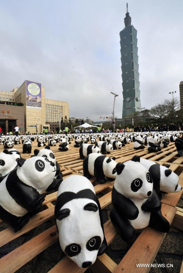 Open air Exhibition Pandas World Tour   Taipei, China