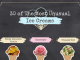 30 of The Most Unusual Ice Creams [Infographic]