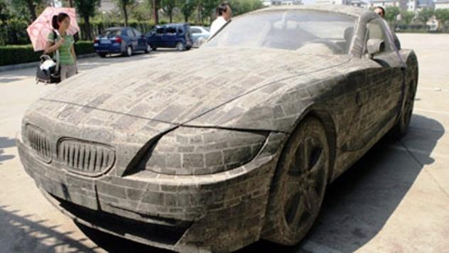 BMW made out of bricks